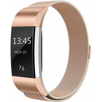 Merk 123watches Fitbit charge 2 milanese band - rose goud