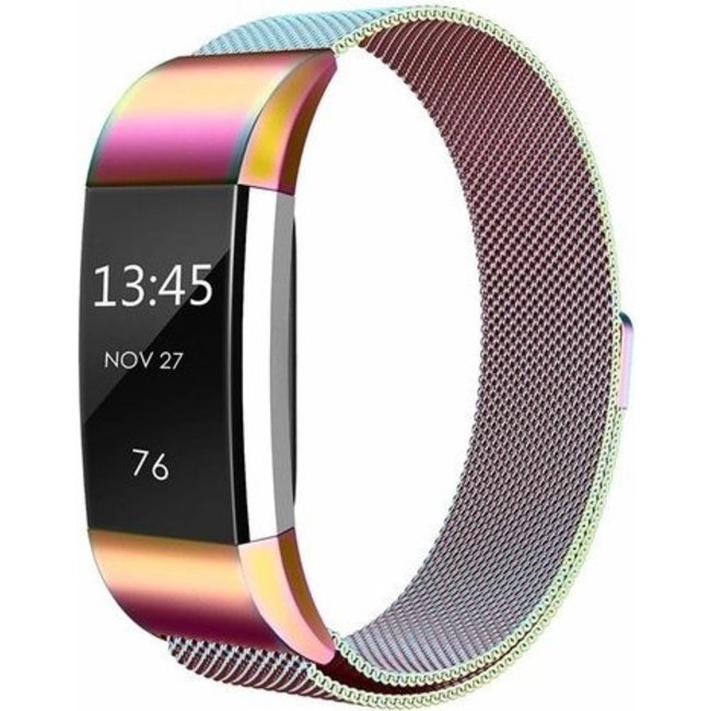 Merk 123watches Fitbit charge 2 milanese band - colorful