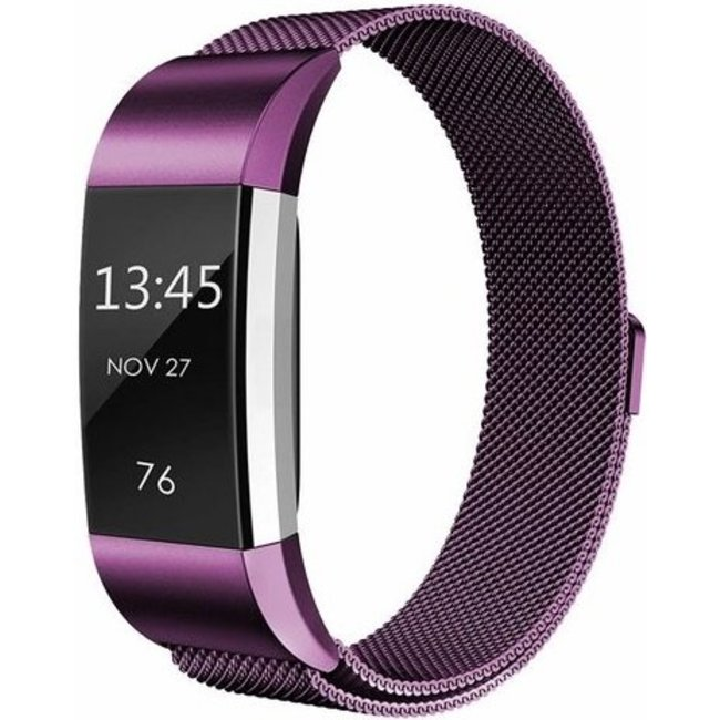 Merk 123watches Fitbit charge 2 milanese band - paars