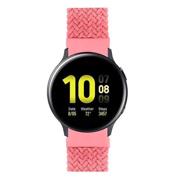 123Watches Huawei watch GT gevlochten solo band - roze punch