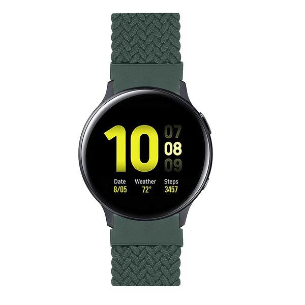 123Watches Huawei watch GT gevlochten solo band - inverness groen