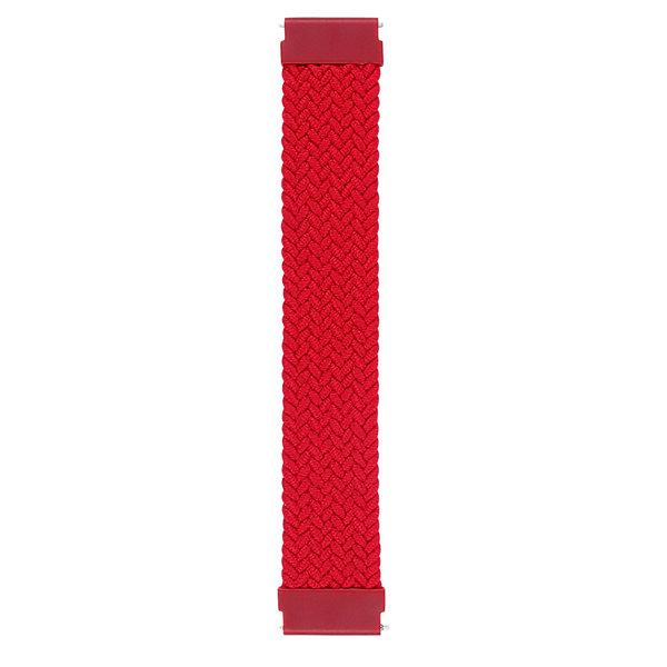123Watches Polar Ignite gevlochten solo band - rood