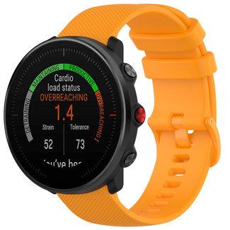Merk 123watches Polar Vantage M / Grit X silicone belt buckle band - orange