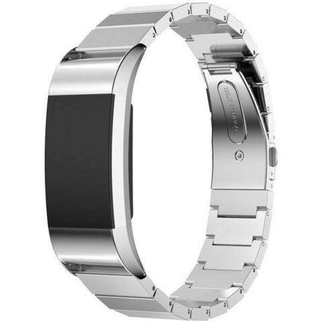 Fitbit charge 2 stalen schakel band - zilver