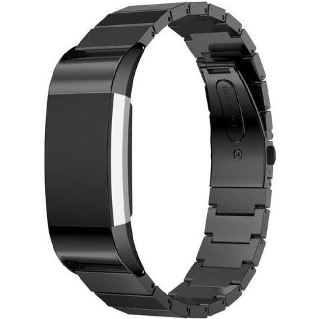 123Watches Fitbit charge 2 stalen schakel band - zwart
