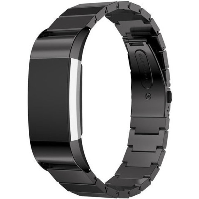 123Watches Fitbit charge 2 steel link - black