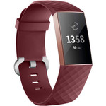 123Watches Fitbit charge 3 & 4 sport wafel band - wijn rood