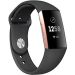 123Watches Fitbit charge 3 & 4 sport silicone band - zwart