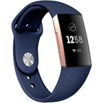 123Watches Fitbit charge 3 & 4 sport silicone band - donkerblauw