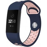 123Watches Fitbit charge 3 & 4 sport band - donkerblauw roze