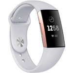 123Watches Fitbit charge 3 & 4 sport silicone band - lichtgrijs