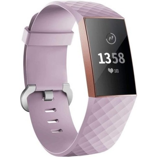 Merk 123watches Fitbit charge 3 & 4 sport wafel band - lavendel
