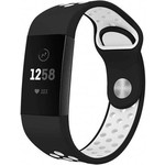 123Watches Fitbit charge 3 & 4 sport band - black and white