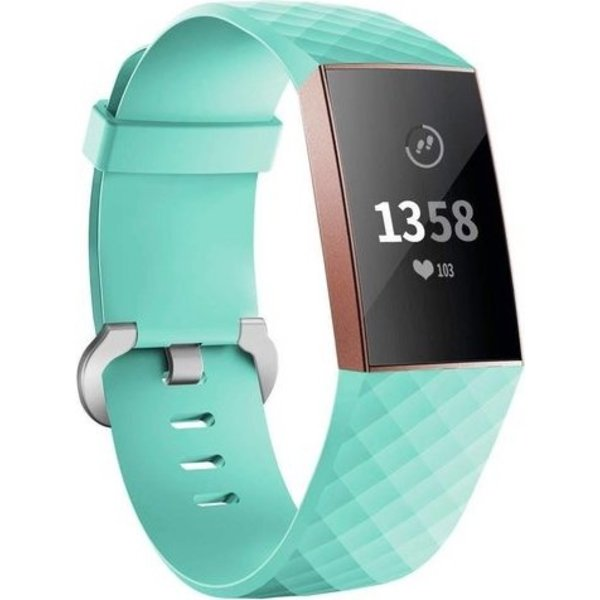 123Watches Fitbit charge 3 & 4 sport waffle band - green
