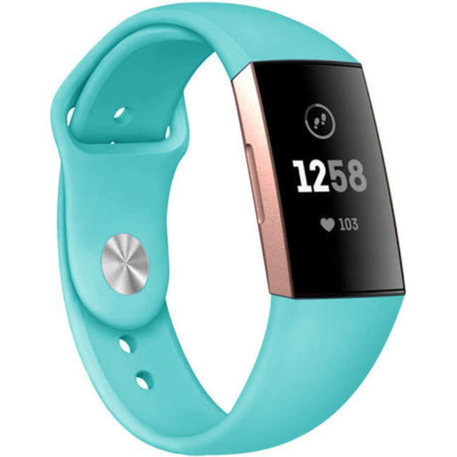 Merk 123watches Fitbit charge 3 & 4 sport silicone band - groen