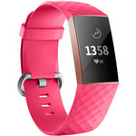 123Watches Fitbit charge 3 & 4 sport wafel band - rose rood