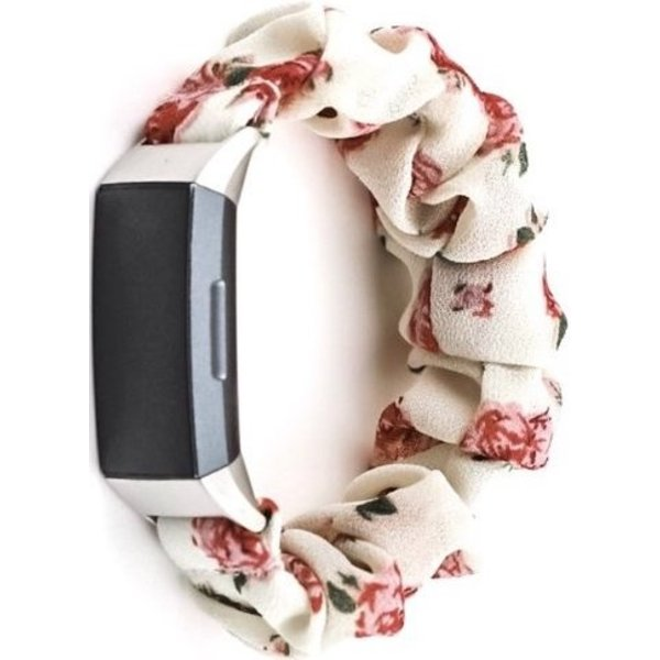 123Watches Fitbit charge 3 & 4  scrunchie band - rozen