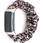 123Watches Fitbit charge 3 & 4  scrunchie band - bloemen paars