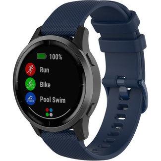 Merk 123watches Garmin Vivoactive / Vivomove silicone gesp band - marineblauw
