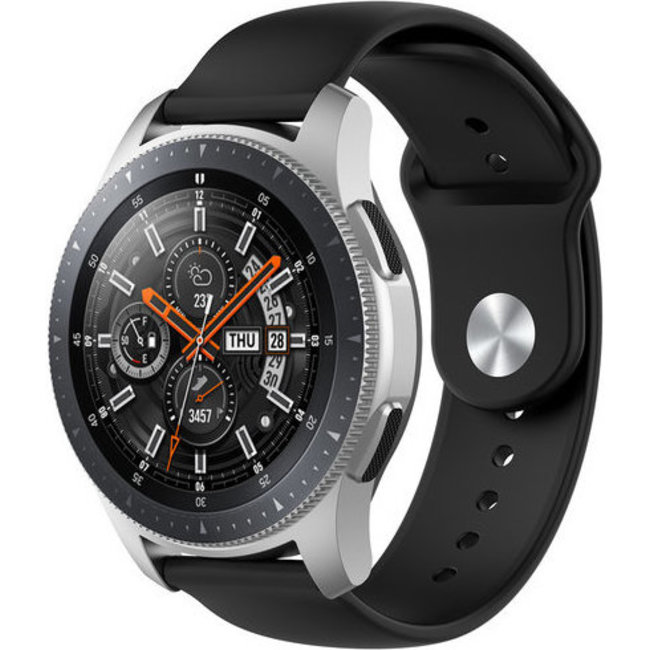 Merk 123watches Garmin Vivoactive / Vivomove silicone band - zwart