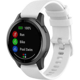 Merk 123watches Garmin Vivoactive / Vivomove silicone gesp band - wit