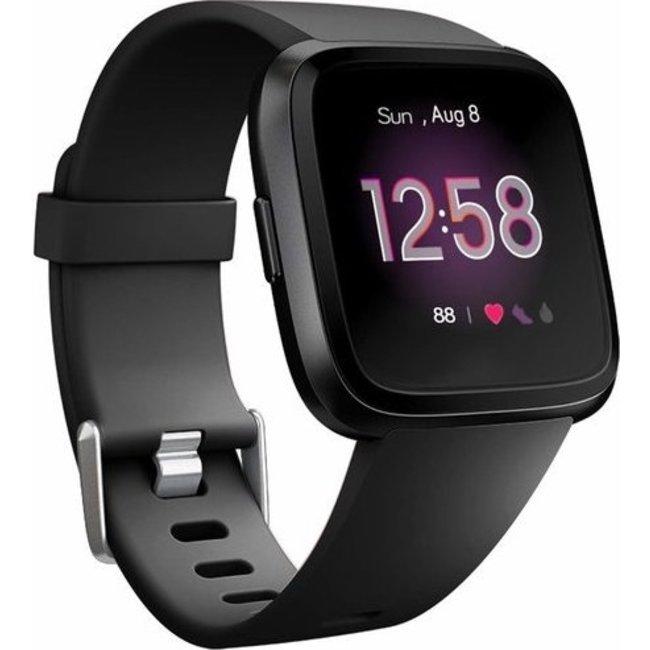 Merk 123watches Fitbit versa sport band - zwart