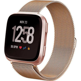 Merk 123watches Fitbit versa milanese band - rose gold