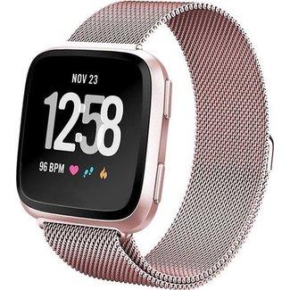 Merk 123watches Fitbit versa milanese band - rose rood