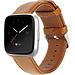 Merk 123watches Fitbit Versa genuine leren band - lichtbruin