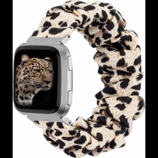 Merk 123watches Fitbit Versa scrunchie band - panter