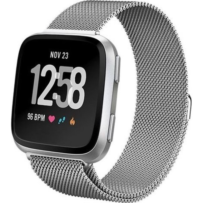 123Watches Fitbit versa milanese band - silver