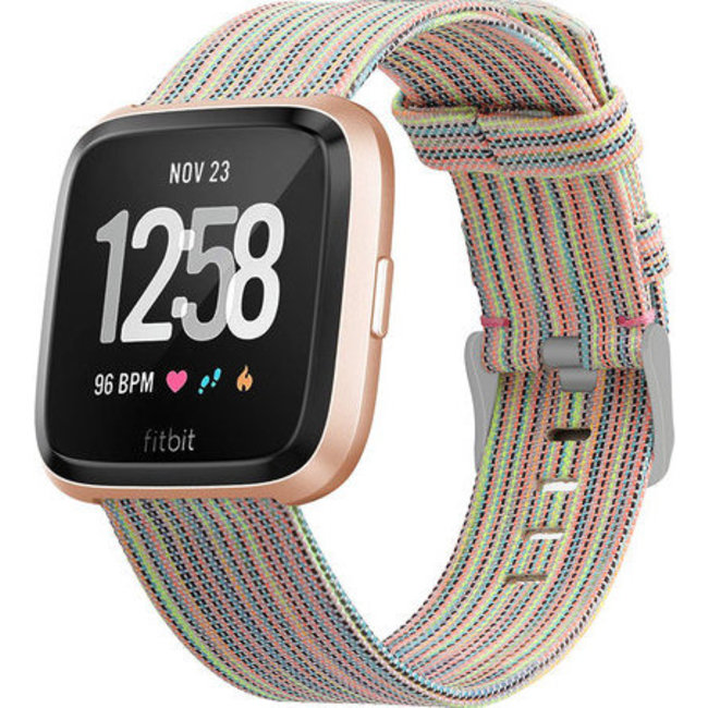Fitbit versa nylon gesp band - colorful