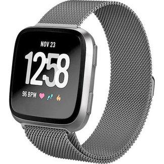 Merk 123watches Fitbit versa milanese band - space black