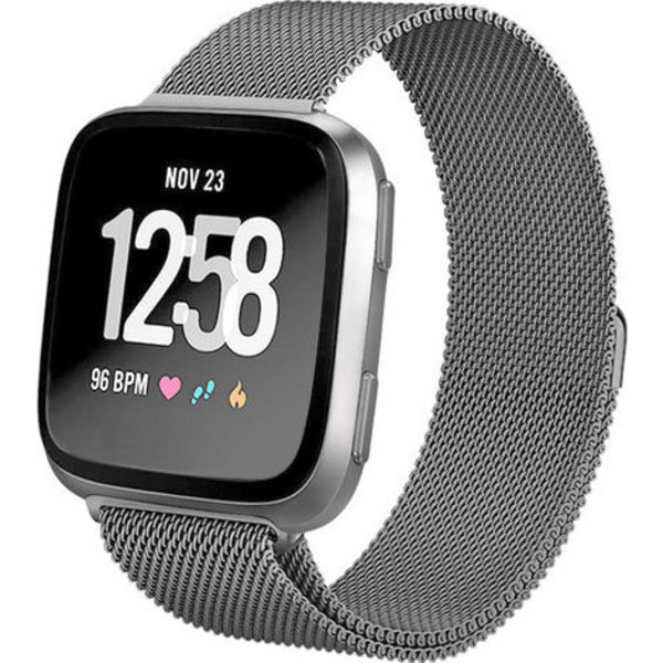 123Watches Fitbit versa milanese band - space black
