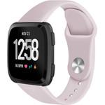 123Watches Fitbit versa silicone band - roze zand