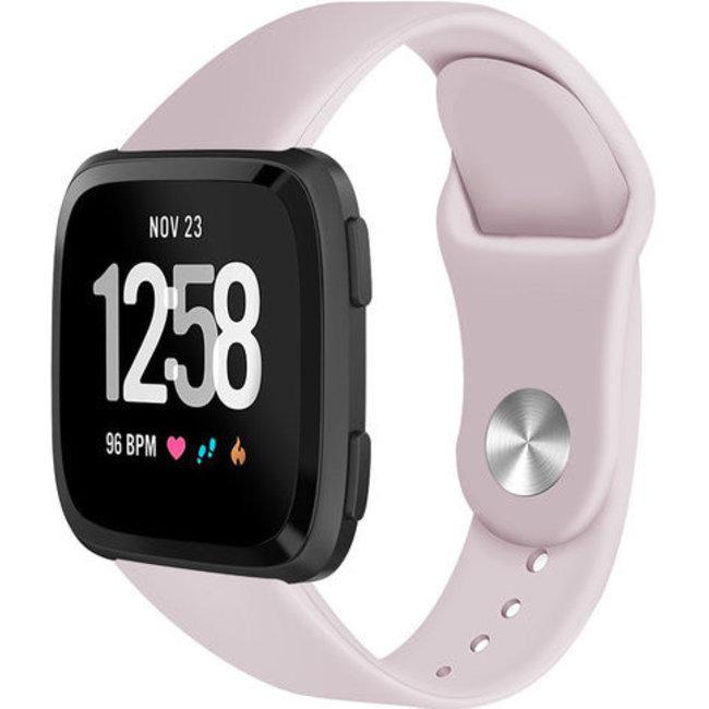 Merk 123watches Fitbit versa silicone band - roze zand
