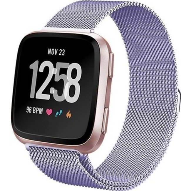 Merk 123watches Fitbit versa milanese band - lavendel