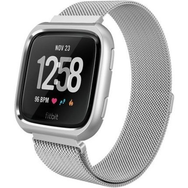 123Watches Fitbit versa milanese case band - silver