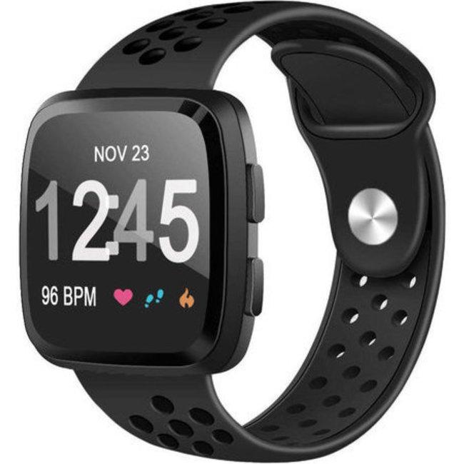 123Watches Fitbit versa double sport band - black black