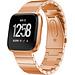 Merk 123watches Fitbit versa stalen schakel band - rose goud