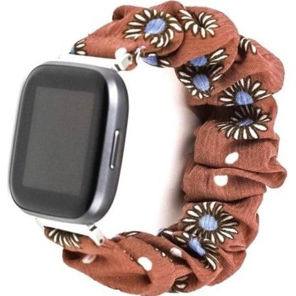 123Watches Fitbit Versa scrunchie band - margriet