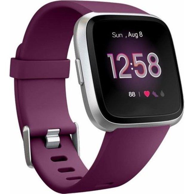 Merk 123watches Fitbit versa sport band - donkerpaars
