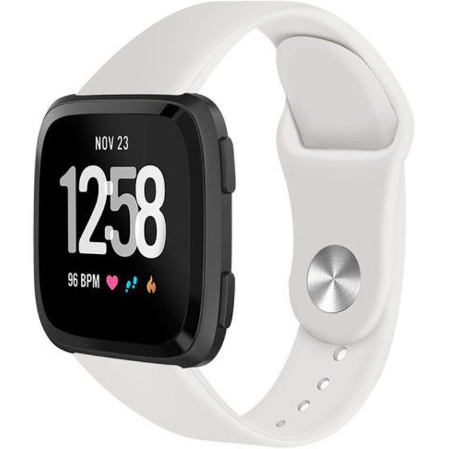 Fitbit versa silicone band - abrikoos