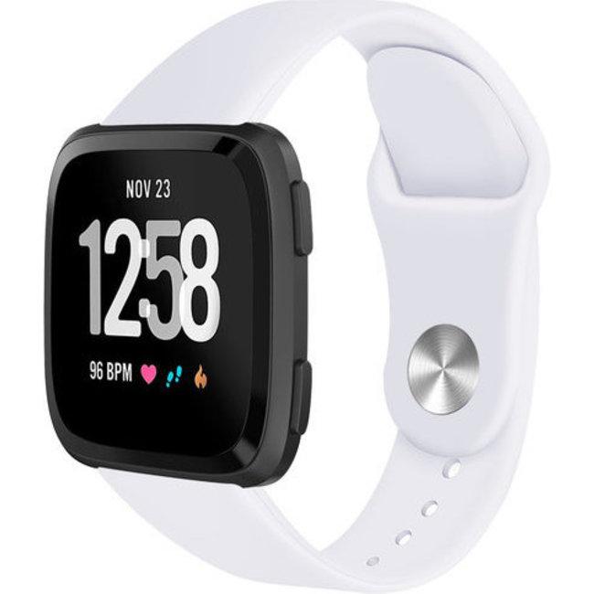 Merk 123watches Fitbit versa silicone band - wit
