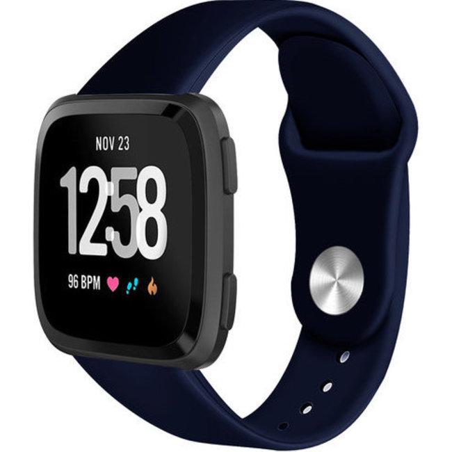 Merk 123watches Fitbit versa silicone band - marine blauw