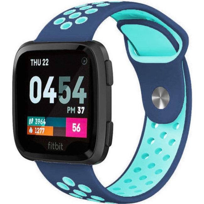 Fitbit versa dubbel sport band - blauw lichtblauw