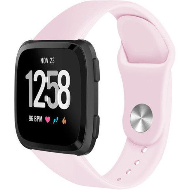 Merk 123watches Fitbit versa silicone band - roze