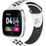 123Watches Fitbit versa double sport band - white black