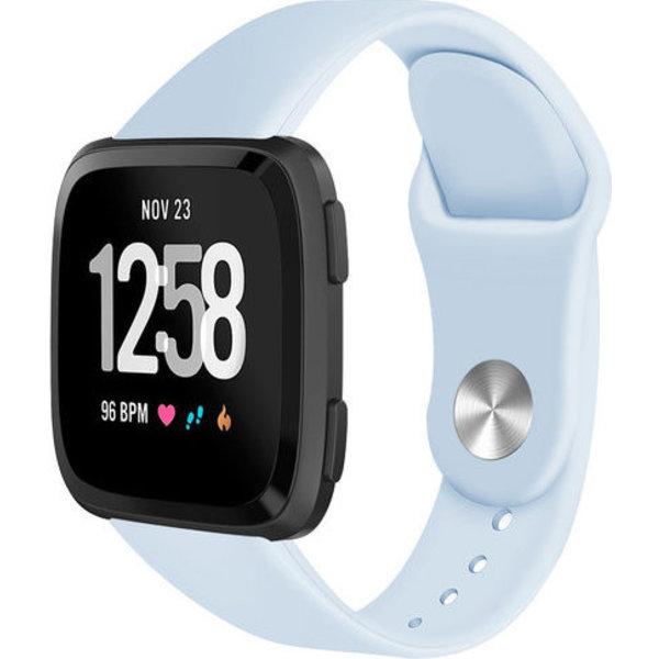 123Watches Fitbit versa silicone band - licht blauw