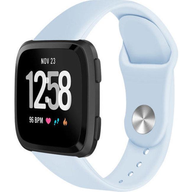 Fitbit versa silicone band - licht blauw